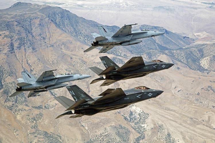 F-35 ve F-18